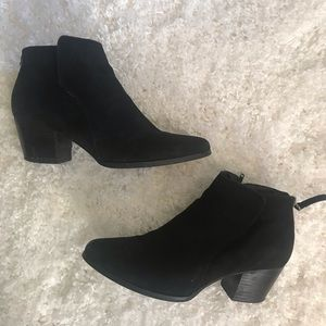 Sole Society black suede booties